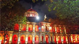 Victorian Supreme Court - night lights